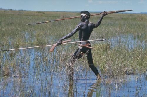 Australian Aborigine in Swamp Darwin