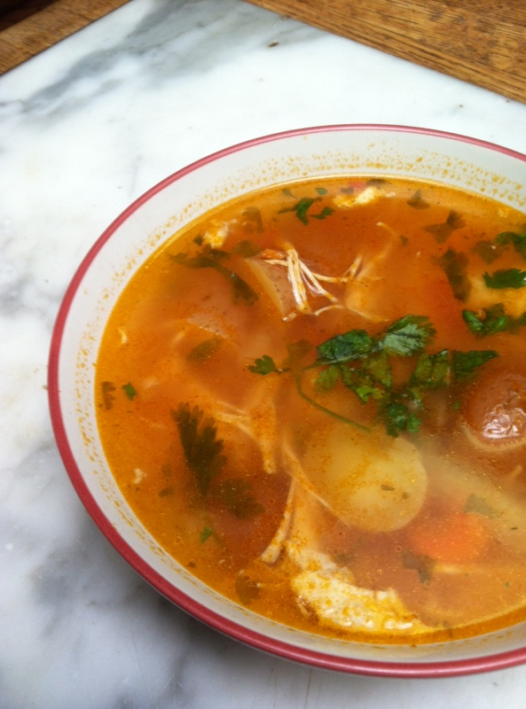soup, home-made, potato, chicken, paleo diet, meal, Stone Age diet, recipe