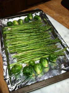 how to roast asparagus and Brussels sprouts, paleo diet, Steve Parker MD