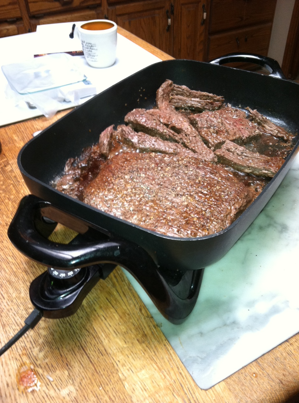 how to cook steak in electric skillet