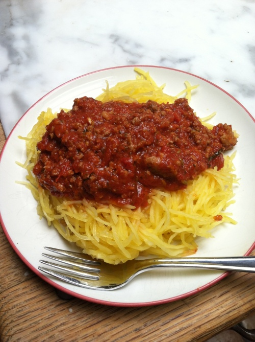 paleobetic diet, low-carb diet, diabetic diet, spaghetti squash