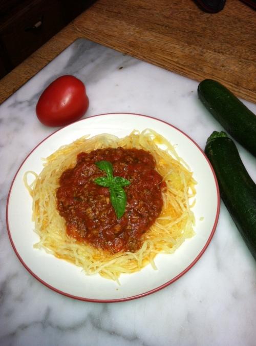 paleobetic diet, diabetic diet, low-carb diet, spaghetti squash, spaghetti